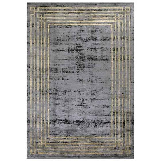 Angora Halı Decorium 9369M Siyah - Sarı