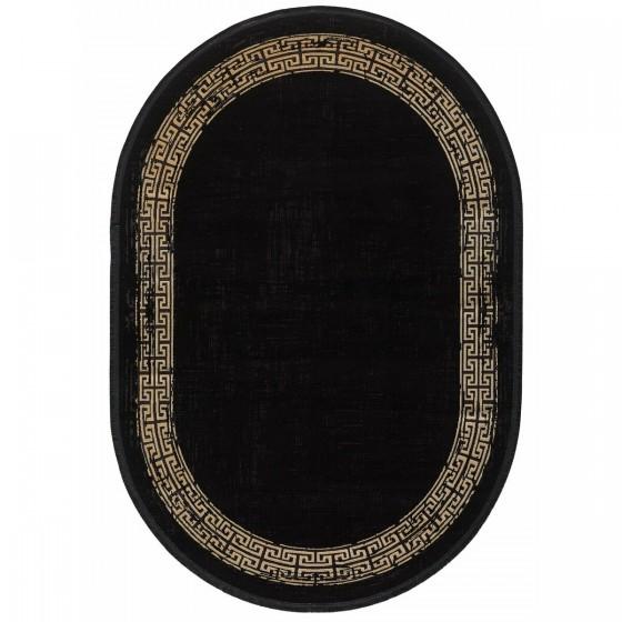Gümüşsuyu Halı Black&Brown 11298 B10 Oval Siyah